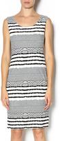 Michael Tyler Striped Sleeveless Dress