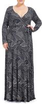 Rachel Pally Long Wrap Dress Wl Print