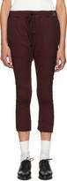 Haider Ackermann Burgundy Hals Lounge Pants