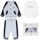 BOSS KidsBoys Navy & Grey Pyjamas Set In A Gift Box