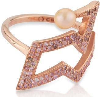 Cristina Cipolli Jewellery Snaketric Edgy Ring Pink