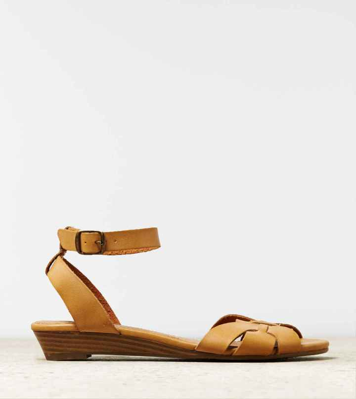American Eagle AEO Woven Mini Wedge Sandal