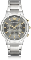 Emporio Armani Stainless Steel Men's Chronograph Watch w/Gray Dial