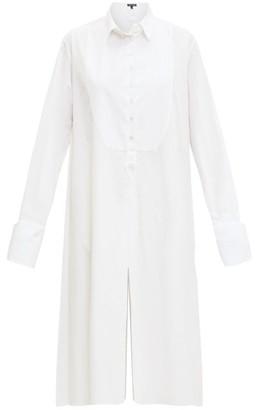Ann Demeulemeester Tuxedo-bib Cotton-poplin Shirt Dress - Womens - White