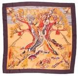 Hermes Kuggor Tree Silk Scarf