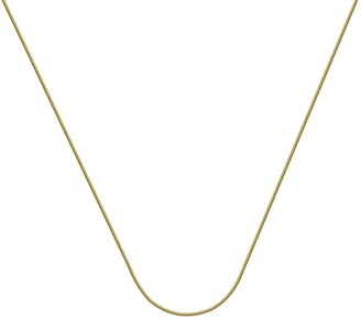 Curata 14k Yellow Gold 1mm Light Snake Chain Necklace