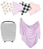 COPPER PEARL Lily Bib, Multiuse Cover & Swaddle Blanket Gift Set
