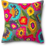 Loloi Floral Applique Square Down Throw Pillow