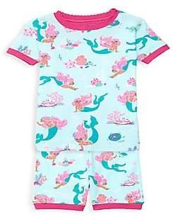Hatley Little Girl's & Girl's Mermaid Tee & Leggings Set