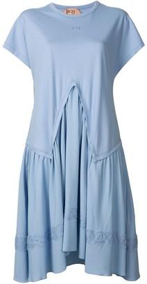 No.21 layered T-shirt dress
