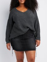 Charlotte Russe Plus Size Shaker Stitch Pullover Sweater