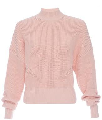Frame Moving Ribbed Mock Neck Sweater