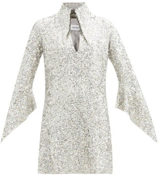 16Arlington Sanaga Point-collar Sequinned Mini Dress - Silver
