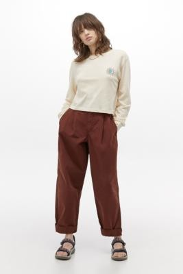 BDG Drew Brown Trousers - Brown XS at Urban Outfitters