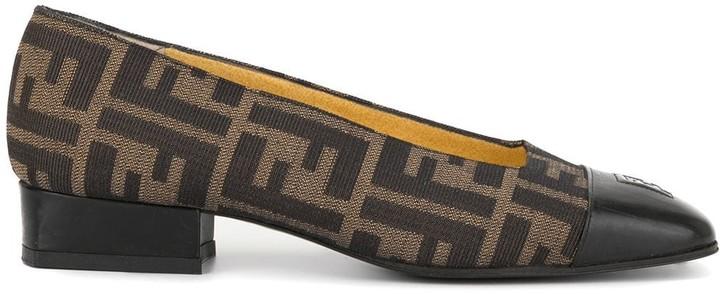 Fendi Pre-Owned Zucca pattern low-heel pumps