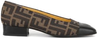 Zucca pattern low-heel pumps