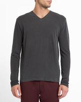 American Vintage Carbon Vintage Odamint V-Neck LS T-Shirt