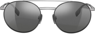 Burberry Aviator Frame Sunglasses