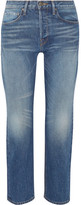 Frame Rigid Re-release Le Original High-rise Straight-leg Jeans - Mid denim