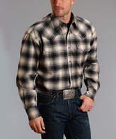 Stetson Charcoal Plaid Button-Up Shirt - Men & Big