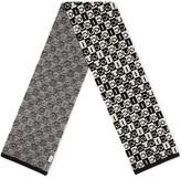 Gucci checkerboard wool scarf