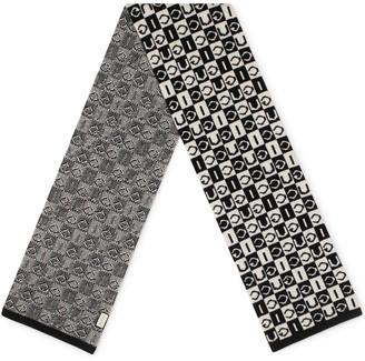 Gucci Checkered Logo Pattern Scarf