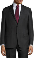 Hickey Freeman Classic-Fit Pinstripe Suit, Gray