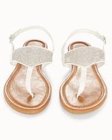 Soma Intimates White Rhinestone Flat Sandals