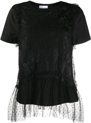 RED Valentino tulle-layered T-shirt