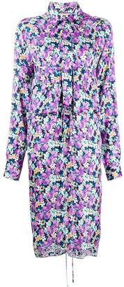 Plan C Kleid flower-print midi dress
