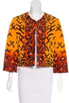 Oscar de la Renta Embroidered Silk Jacket