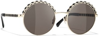 Chanel Round Sunglasses CH4265Q Pale Gold/Grey