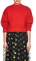 3.1 Phillip Lim Women's Zigzag-Knit Silk-Blend Crop Swearer