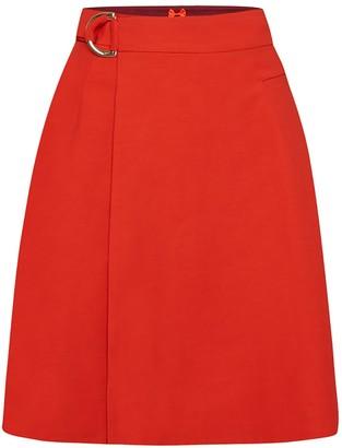 Menashion Wrap Skirt No. 904 Cherry Tomato Red