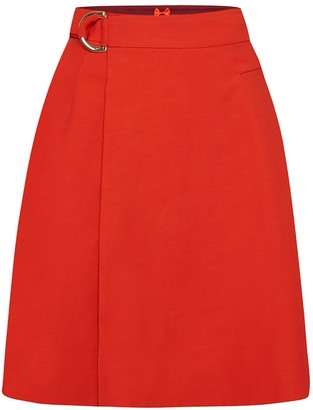 Wrap Skirt No. 904 Cherry Tomato Red