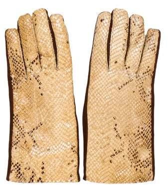 Fendi Suede Printed Gloves