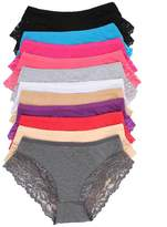 Grace 12 Pack Cotton Panties, Assorted Styles to Choose From (M, )