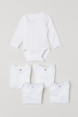 H&M 5-pack Bodysuits - White