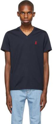 Burberry Navy Marlet V-Neck T-Shirt