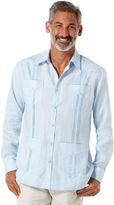 Cubavera Big & Tall 100% Linen Long Sleeve 4 Pocket Guayabera