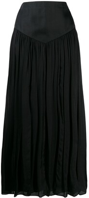 Emanuel Ungaro Pre Owned '1990s Pleated Maxi Skirt