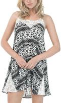 Bow & Arrow Black & White Geometric Sleeveless Dress