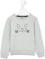 Karl Lagerfeld cat print sweatshirt - kids - Cotton/Polyester - 8 yrs