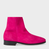 Paul Smith Women's Fuchsia Suede 'Brooklyn' Boots
