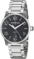 Montblanc Mont Blanc 105962 Men's Wrist Watches, Dial, Silver Band