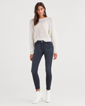 7 For All Mankind 7fam7 b(air) Denim High Waist Ankle Skinny in Evening Grey
