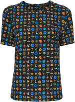 Etro printed short-sleeve blouse