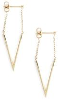 FOUNDRAE Chain Triangle Earrings