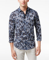 INC International Concepts Men's Abstract Floral Print Cotton Shirt, Created for Macy's