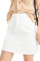J.Crew Petite Women's Let-Out Hem Denim Skirt